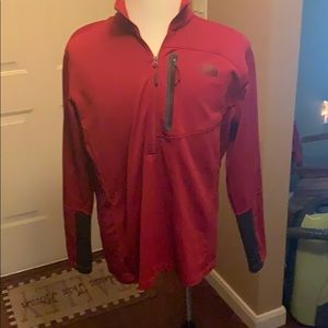 North Face 3/4 zip pullover sweatshirt